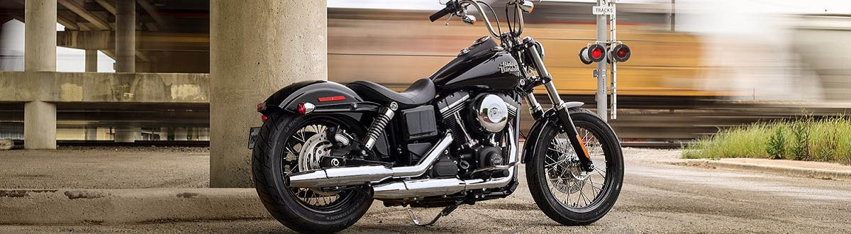 Black Harley Davidson Bike parked