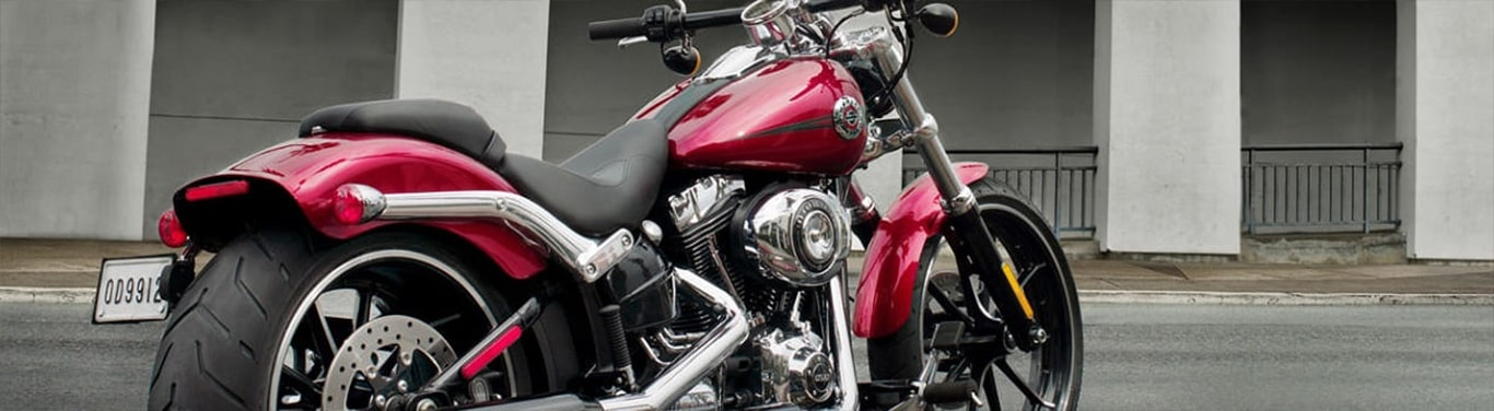 Red Harley-Davidson motorcycle